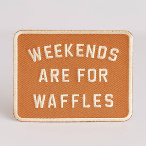 Weekends Are For Waffles Patch - by OKcollective Candle Co. Made in Oklahoma City