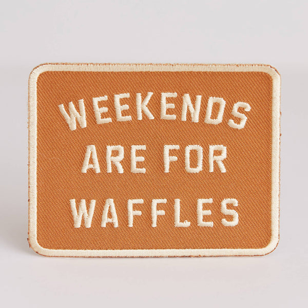 Weekends Are For Waffles Patch - OKcollective Candle Co.