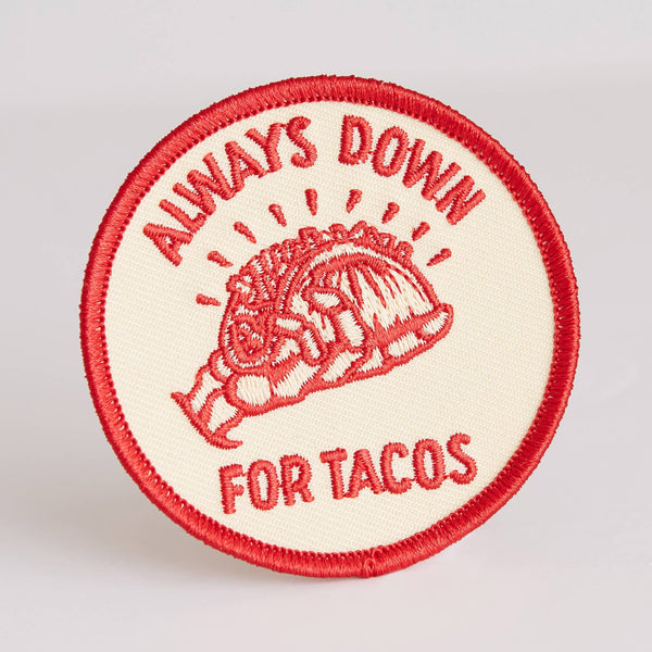 Always Down for Tacos Patch - OKcollective Candle Co.