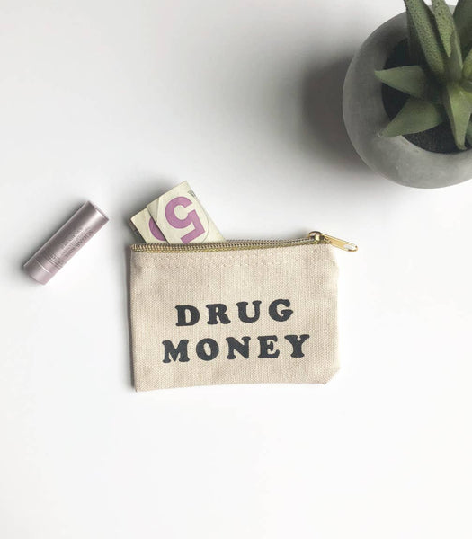 Drug Money Coin Pouch - by OKcollective Candle Co. Made in Oklahoma City