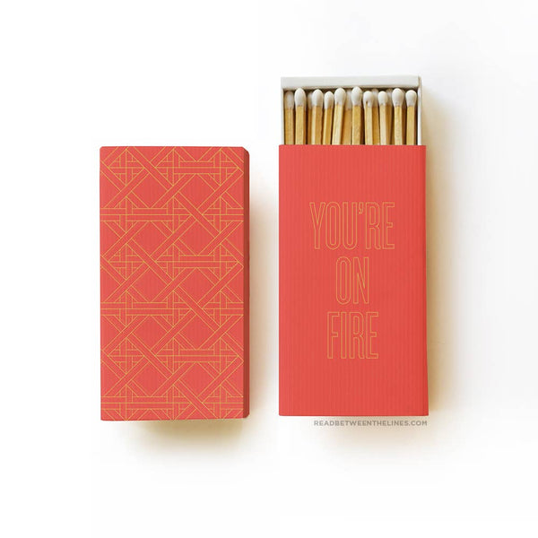 On Fire Large Matchbox - by OKcollective Candle Co. Made in Oklahoma City