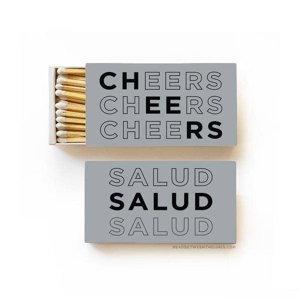 Cheers Salud Large Matchbox - by OKcollective Candle Co. Made in Oklahoma City