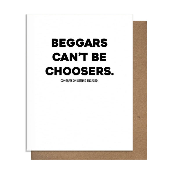 Beggars Greeting Card - by OKcollective Candle Co. Made in Oklahoma City