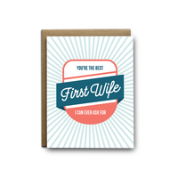 Best First Wife Ever Greeting Card - by OKcollective Candle Co. Made in Oklahoma City