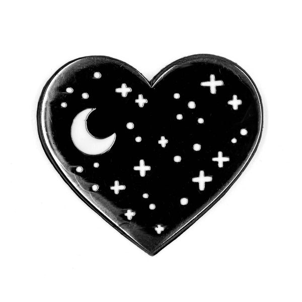 Heart Night Sky Enamel Pin - OKcollective Candle Co.