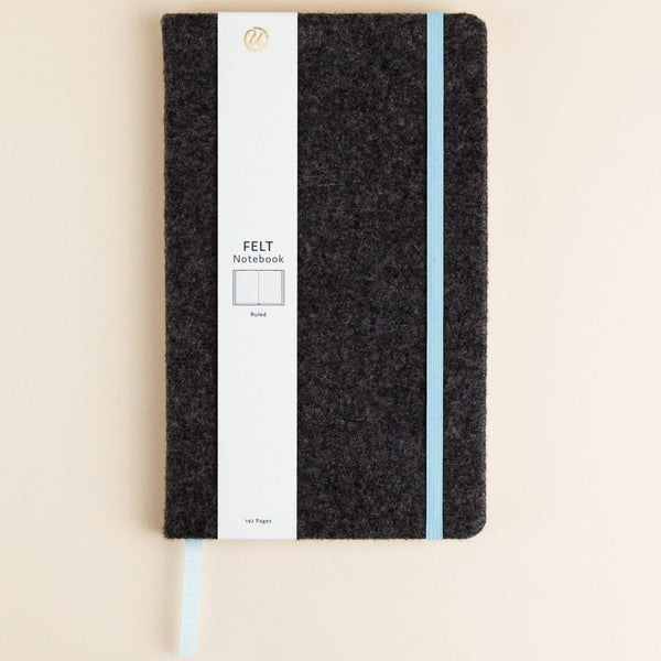 Dark Grey Felt Cover Journal
