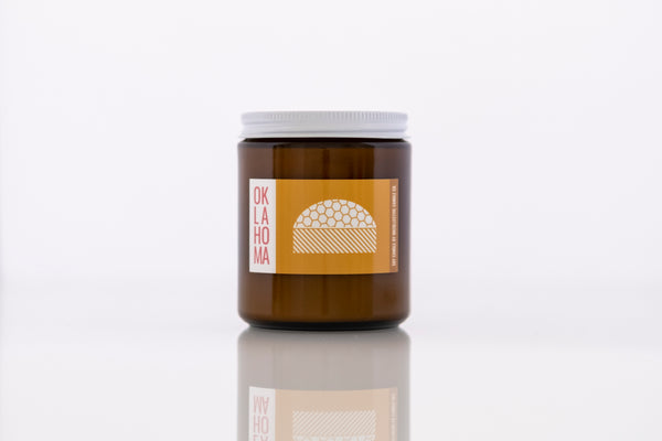Oklahoma Gold Dome Soy Candle - OKcollective Candle Co.