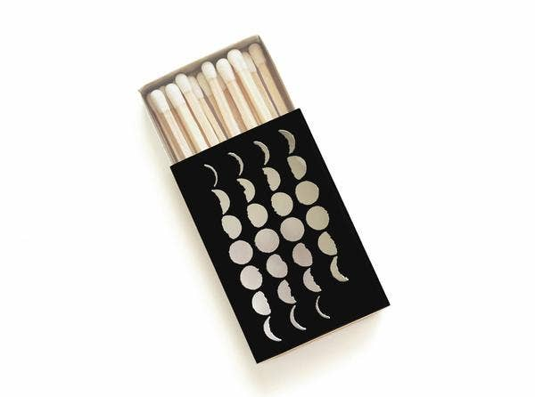 28 Phases of the Moon Mini Matchbox - by OKcollective Candle Co. Made in Oklahoma City