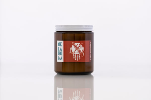 Oklahoma Shield Soy Candle - by OKcollective Candle Co. Made in Oklahoma City