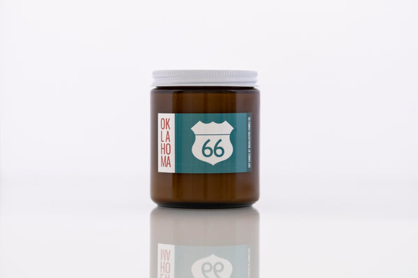 Oklahoma Route 66 Soy Candle - by OKcollective Candle Co. Made in Oklahoma City