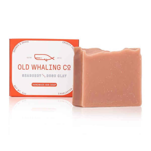 Seaberry + Rose Clay Bar Soap - OKcollective Candle Co.