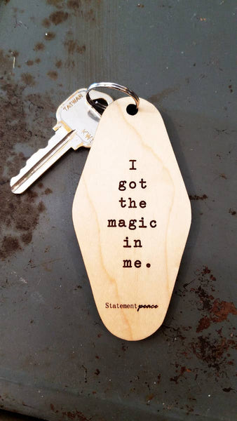 I Got The Magic In Me Retro Motel Keychain - by OKcollective Candle Co. Made in Oklahoma City