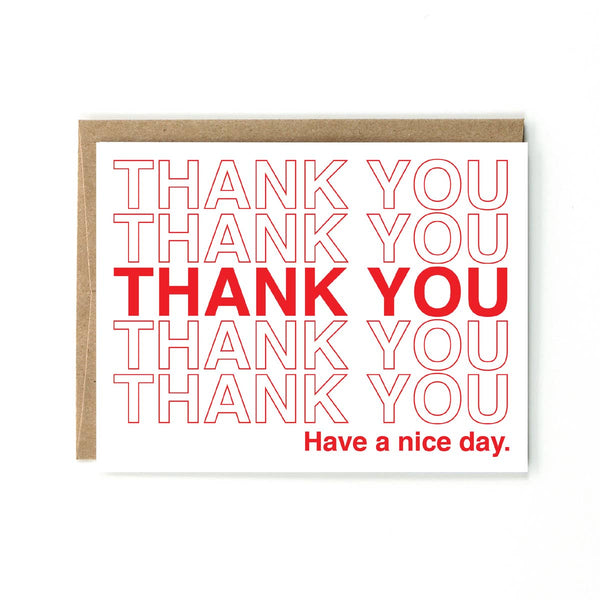 Takeout Bag Thank You Greeting Card - by OKcollective Candle Co. Made in Oklahoma City
