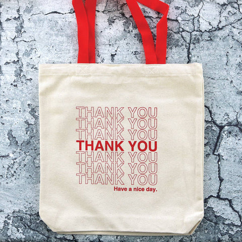 Red Takeout Tote Bag - by OKcollective Candle Co. Made in Oklahoma City