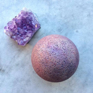 Amethyst Large Bath Bomb - by OKcollective Candle Co. Made in Oklahoma City