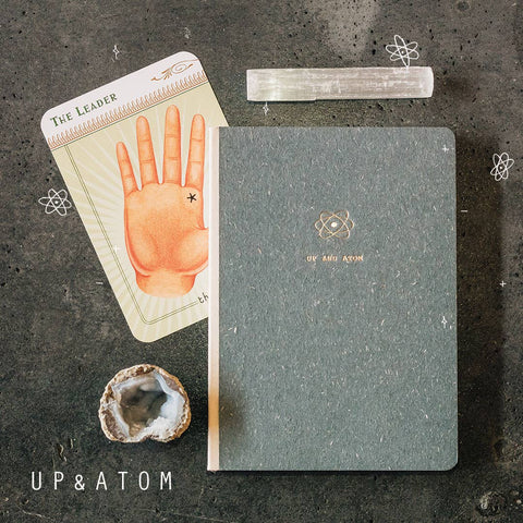 Up & Atom Canvas Bound Journal - by OKcollective Candle Co. Made in Oklahoma City