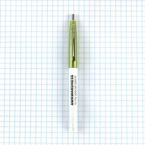 Green - Awkwardness Is My Special Talent Pen - by OKcollective Candle Co. Made in Oklahoma City