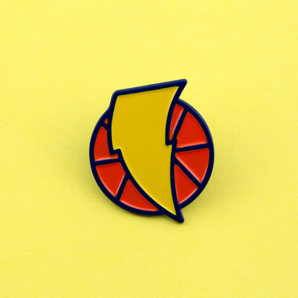Basketball Enamel Pin - by OKcollective Candle Co. Made in Oklahoma City