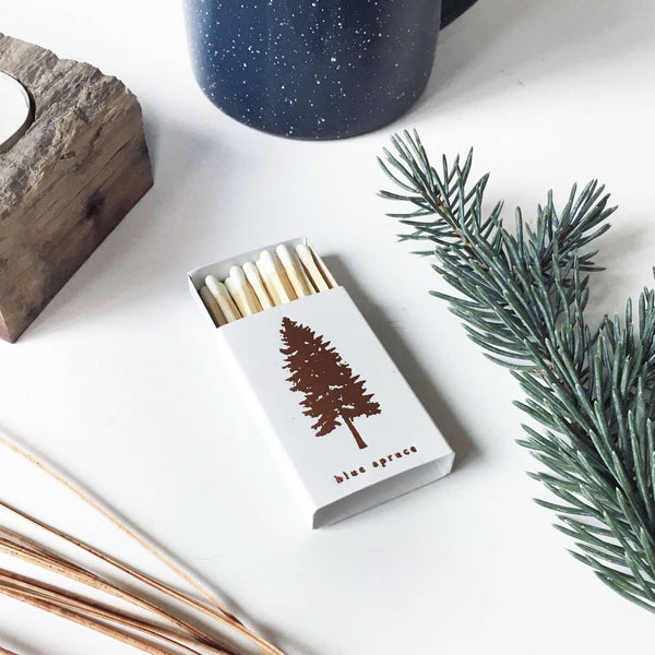 Blue Spruce Mini Matchbox