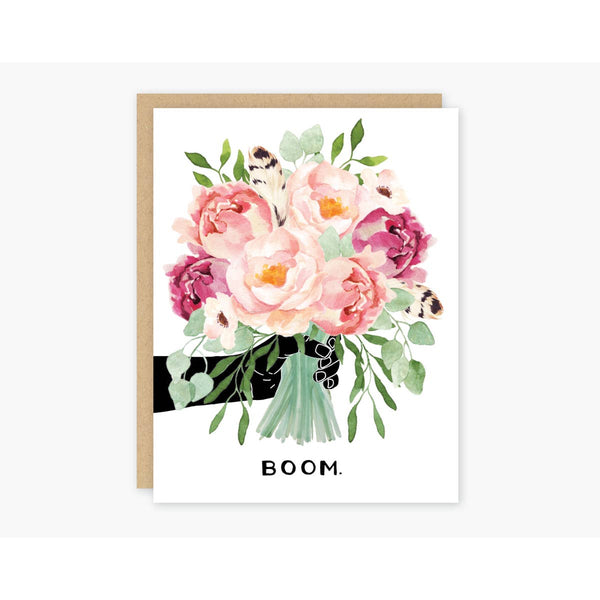 Boom Peonies Card - by OKcollective Candle Co. Made in Oklahoma City