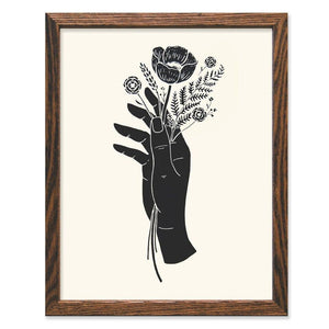 Botanical Hand Art Print - by OKcollective Candle Co. Made in Oklahoma City
