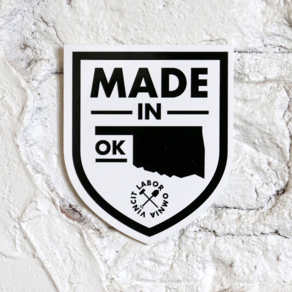 Made in OK Oklahoma Sticker - by OKcollective Candle Co. Made in Oklahoma City