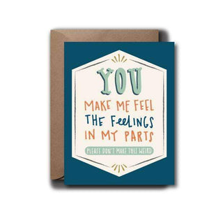 Feel Feelings Love Greeting Card - by OKcollective Candle Co. Made in Oklahoma City