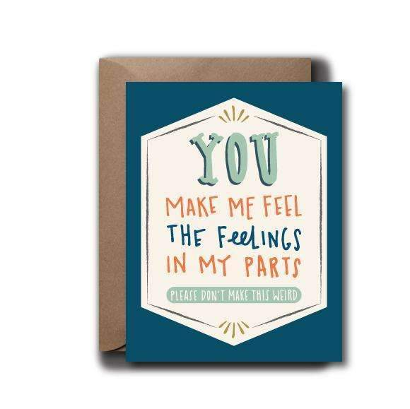 Feel Feelings Love Greeting Card - OKcollective Candle Co.