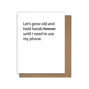Hold Hands Greeting Card - by OKcollective Candle Co. Made in Oklahoma City