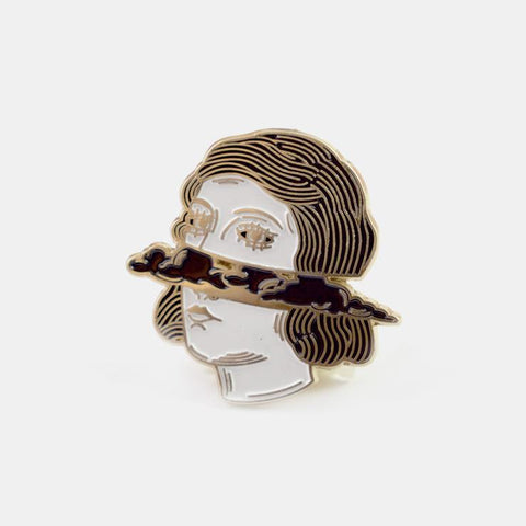 Cloud Head Enamel Pin - by OKcollective Candle Co. Made in Oklahoma City