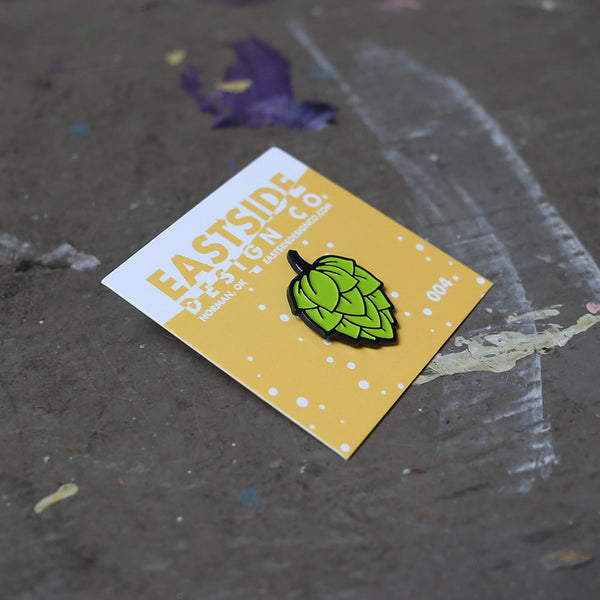Beer Hop Enamel Pin - by OKcollective Candle Co. Made in Oklahoma City