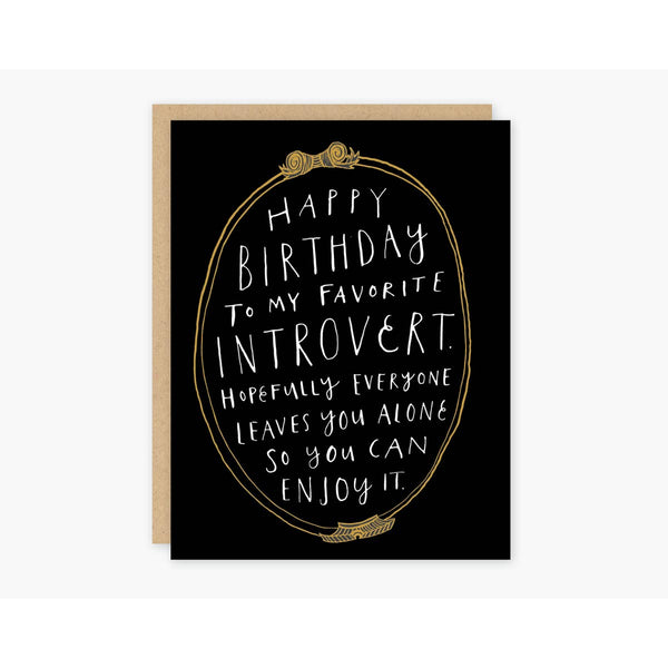 Introvert Birthday Greeting Card - by OKcollective Candle Co. Made in Oklahoma City