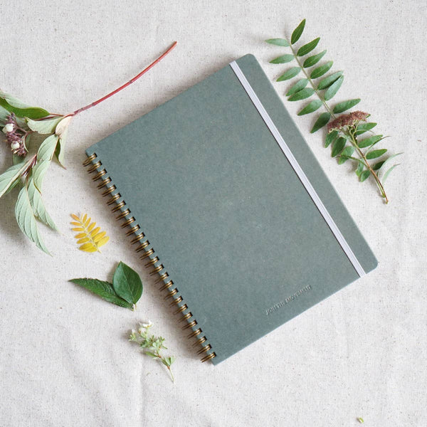 Join the Movement Olive Hardcover Spiral Notebook - by OKcollective Candle Co. Made in Oklahoma City