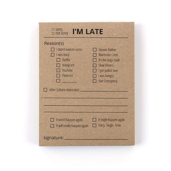 Late Notepad - by OKcollective Candle Co. Made in Oklahoma City