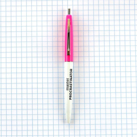 Hot Pink - Master Procrastinator Pen - by OKcollective Candle Co. Made in Oklahoma City