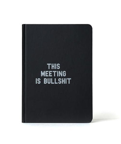 This Meeting is Bullshit Slim Journal Notebook - by OKcollective Candle Co. Made in Oklahoma City