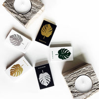 Monstera Leaf Mini Matchbox - by OKcollective Candle Co. Made in Oklahoma City