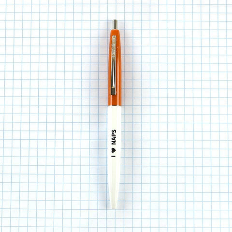Orange - I 'Heart' Naps Pen - by OKcollective Candle Co. Made in Oklahoma City