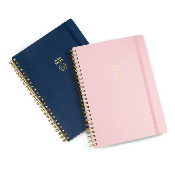 Navy or Pink Wild Ideas Notebook - by OKcollective Candle Co. Made in Oklahoma City
