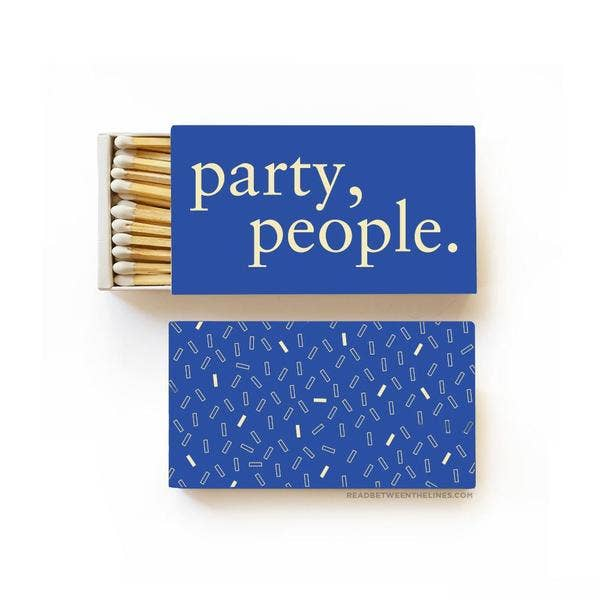Party, People Large Matchbox - by OKcollective Candle Co. Made in Oklahoma City