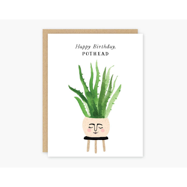 Pothead Birthday Greeting Card - by OKcollective Candle Co. Made in Oklahoma City