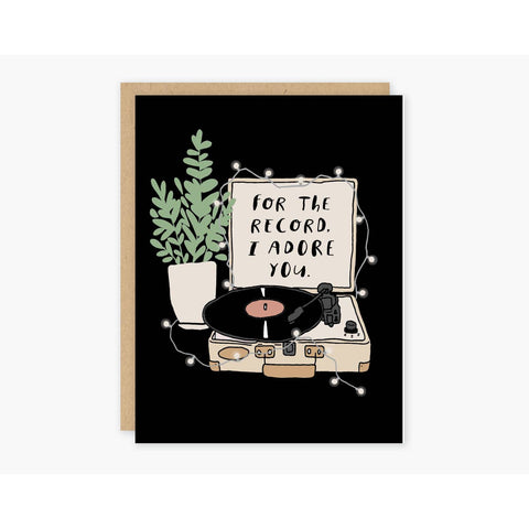 Adore You Record Greeting Card - by OKcollective Candle Co. Made in Oklahoma City
