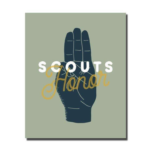 Scouts Honor Wall Art Print - by OKcollective Candle Co. Made in Oklahoma City
