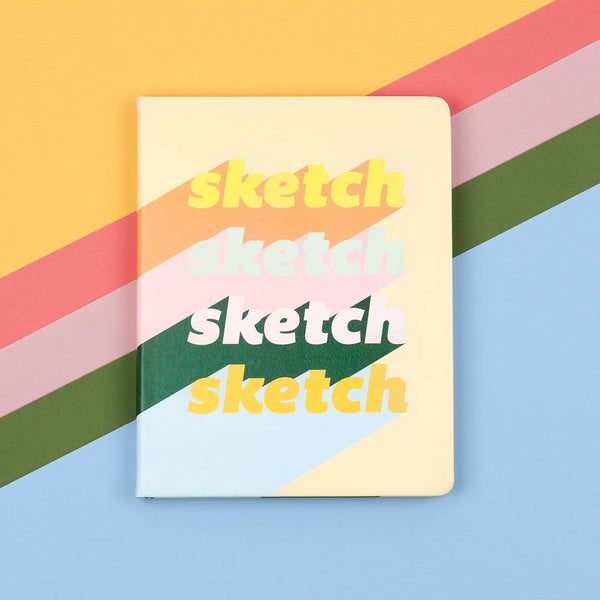 Sketch Sketch Sketch Hardcover Medium Sketchbook - by OKcollective Candle Co. Made in Oklahoma City