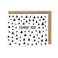 Thank You Triangles Card - by OKcollective Candle Co. Made in Oklahoma City