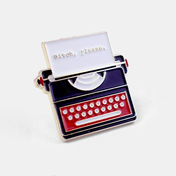 Typewriter Enamel Pin - by OKcollective Candle Co. Made in Oklahoma City