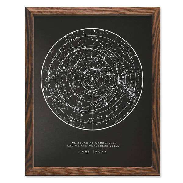 Wanderer Star Chart Art Print - by OKcollective Candle Co. Made in Oklahoma City
