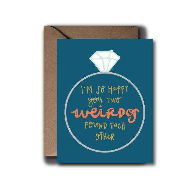 Two Weirdos Wedding Greeting Card - by OKcollective Candle Co. Made in Oklahoma City