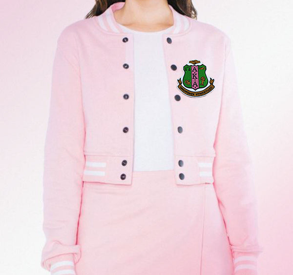 Alpha Kappa Alpha Woman's Cropped Letterman