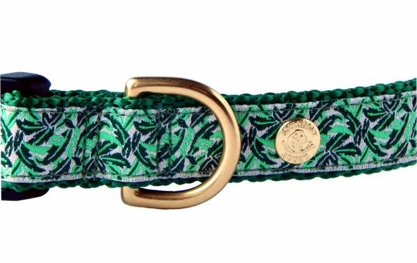 Banana Leaf Palm Beach Preppy Dog Collar